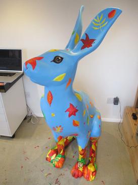 Autumn Hare Sculpture