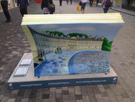 Promenade Book Bench (back)