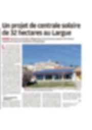 2018-04-29-La Provence- Centrale Solaire