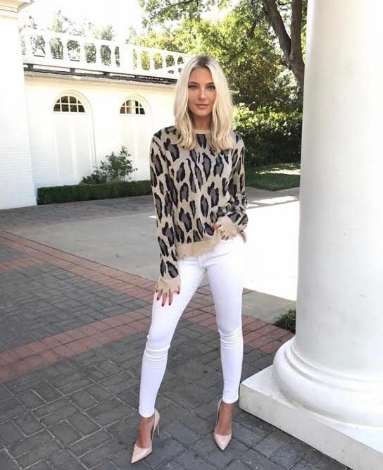 Fun winter printed outfit