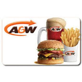 A&W $25 - $50