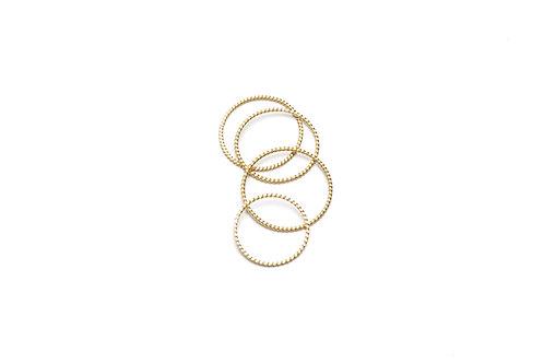 TRECCIA Gold Rings Set