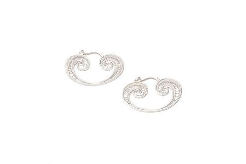 Single ONDE Silver Earrings