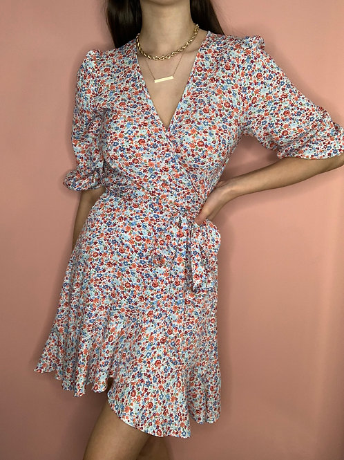 Carlo Wrap Mini Dress