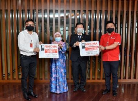 Sumbangan Penapis Air NIHOMA sejuk panas berjumlah RM 120,000 kepada PKRC