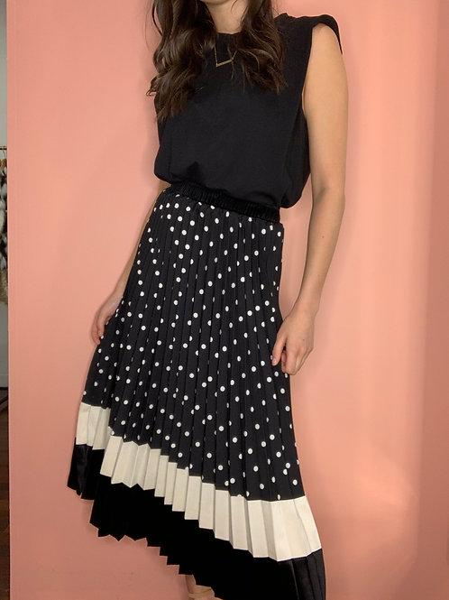 Polka Pleat Skirt