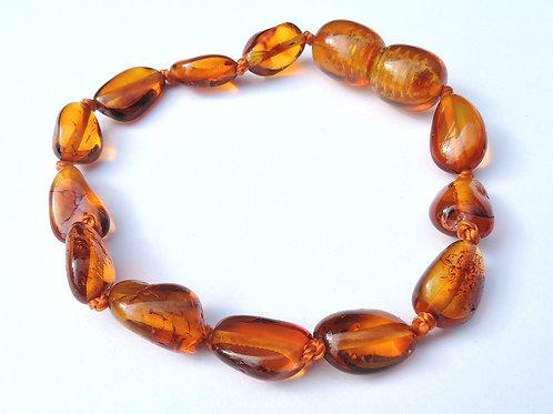 Cognac Amber Teething Anklet/Bracelet