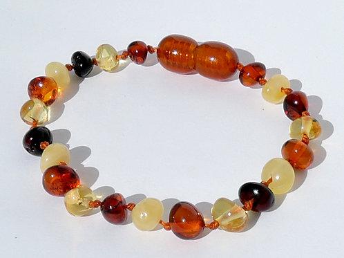 Amber Multicolour Baroque Anklet/Bracelet