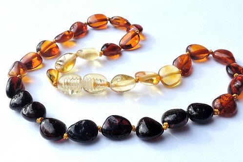 Beautiful Baltic Amber Rainbow Teething Necklace 33cm