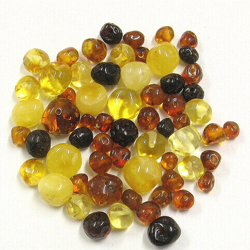 45 x Baltic Amber Baroque Mixed Beads