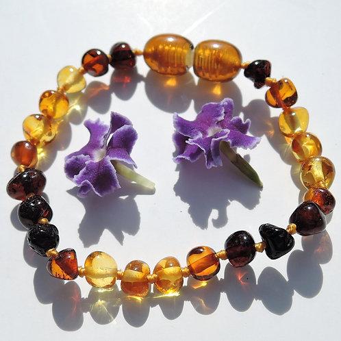 Baltic amber baby anklet bracelet