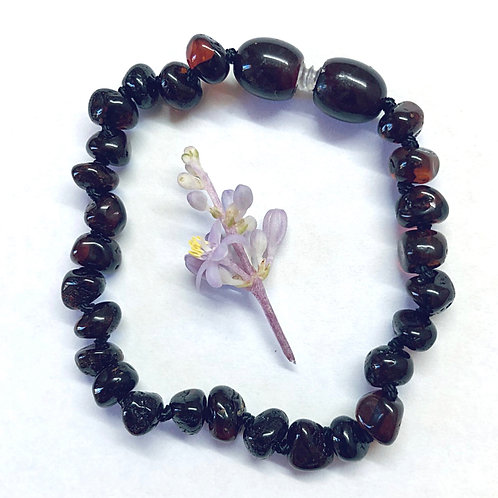 Baroque bead Cherry Baltic Amber anklet