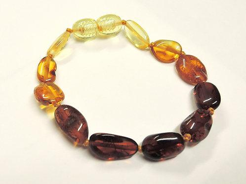 Lovely Rainbow Amber Teething Anklet/Bracelet