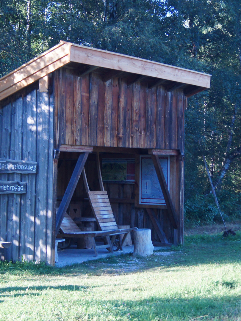 Infohütte am Moorlehrpfad