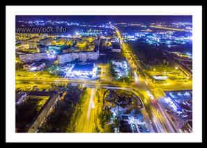 Новотроицкое шоссе ночью