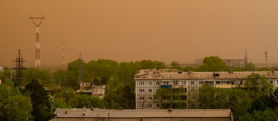 У меня пепел, в городе буря из песка