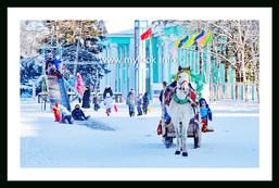 Зимние забавы. Площадь
