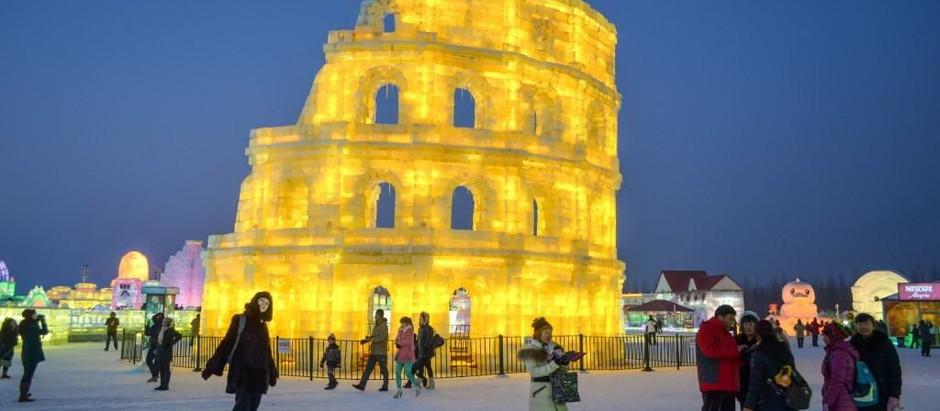 """""""Harbin Ice and Snow Amusement World"""". Международный фестиваль снега и льда в китайском городе Харби"""