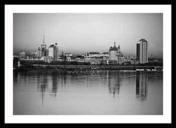 Китайский город Хэйхэ после дождя