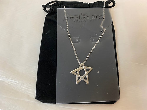 HHanukkahNecklace - Star in Black Pouch