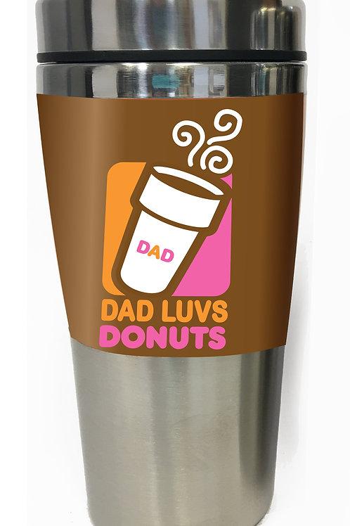MugTravel - Stainless Dad LUVS Coffee