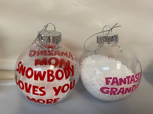 Holiday OrnamentSnowball - Mom