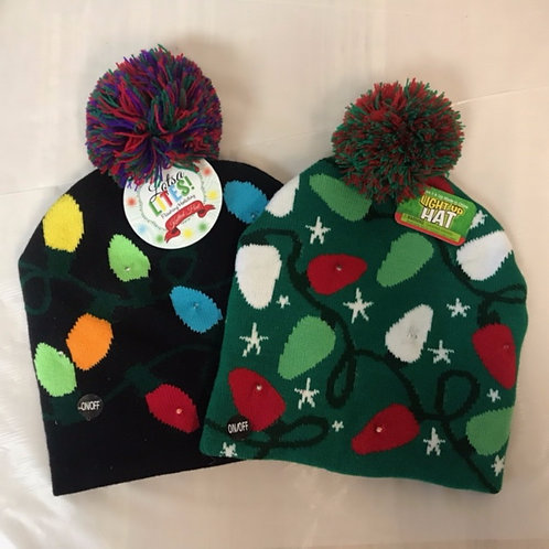 Holiday Light-up Hat Assorted