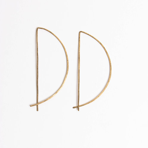 Half Circle Threader Hoops