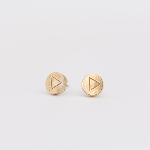 Triangle Stamped Studs