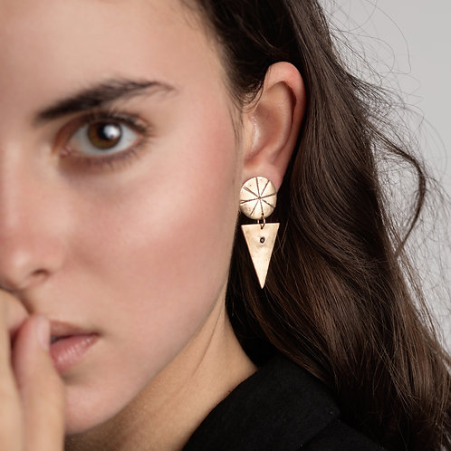 Lucent Dangle Ear Studs