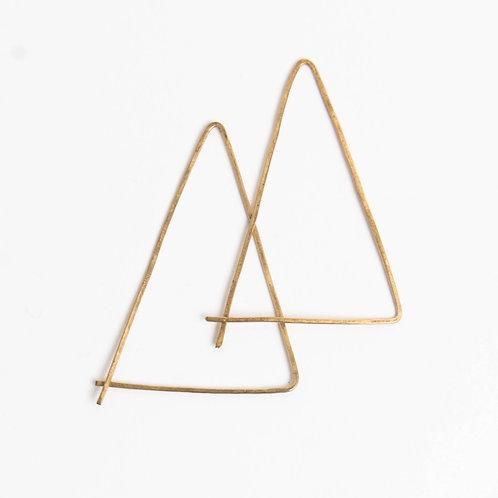 Triangle Threader Hoops