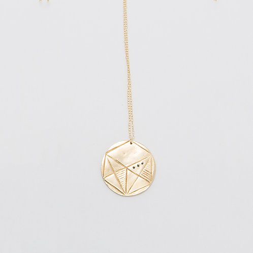 Geometry Coin Necklace