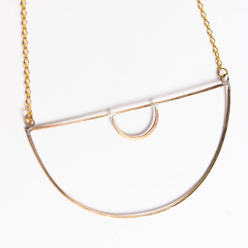 Geo Half Circle Necklace