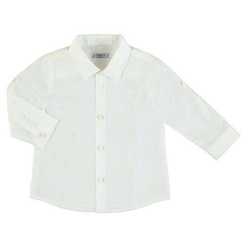 Basic lněná košile chlapecká
