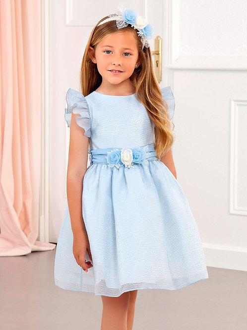 Světle modré Organza šaty