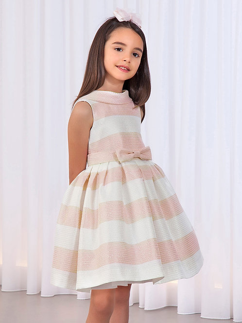 Stripes šaty světle růžová