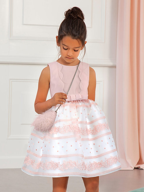 Růžové Waves šaty s volnými zády