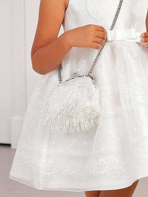 Kabelka s třásněmi bílá