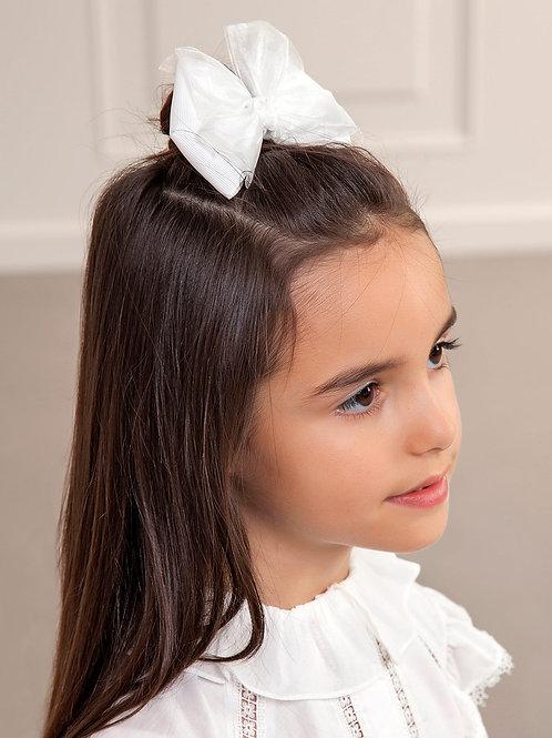 Dvojtý klip do vlasů bílá