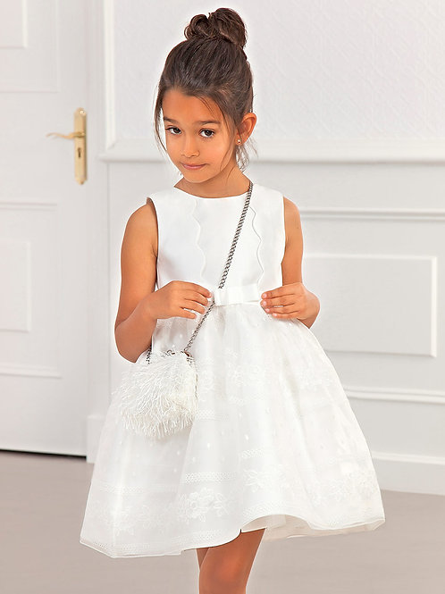 Bílé Waves šaty s volnými zády