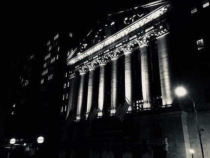 NYSE at Night, by Miles Kellerman