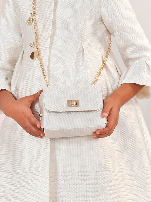 Jacquard kabelka bílá