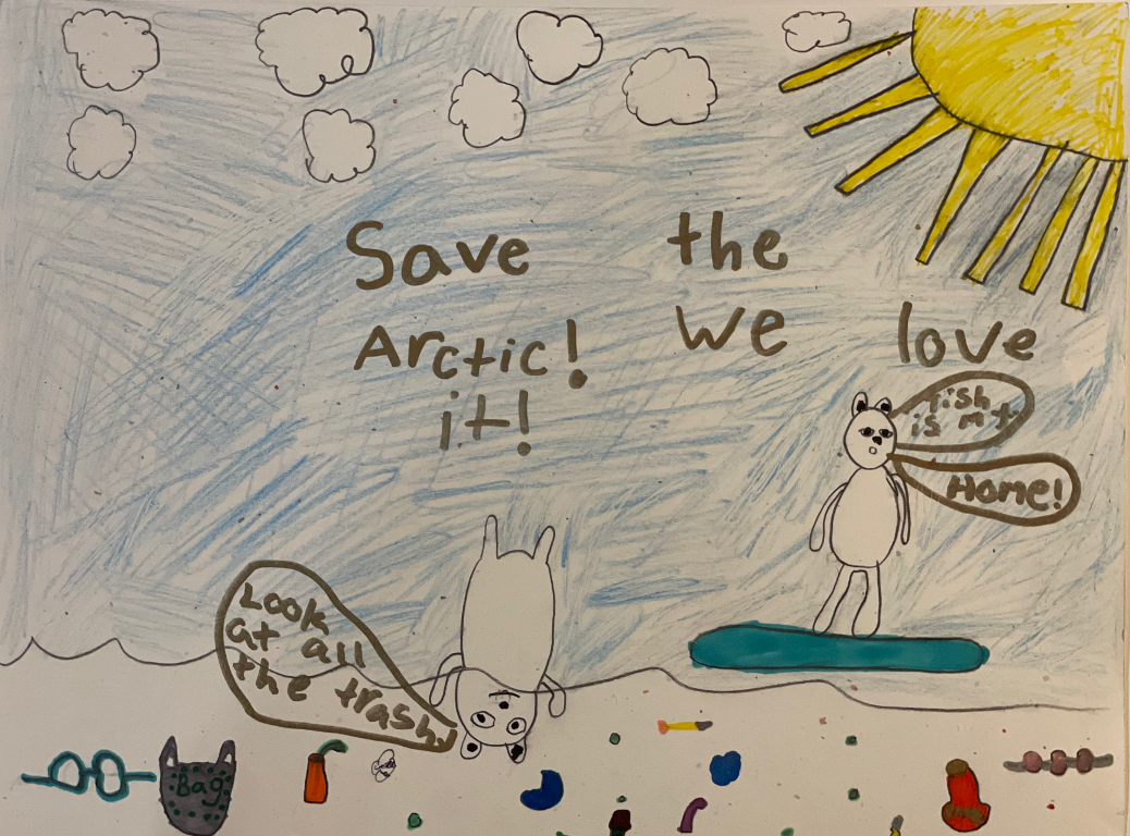 """""""Save the Arctic! We Love It!"""" by Bianca J. (age 9)"""