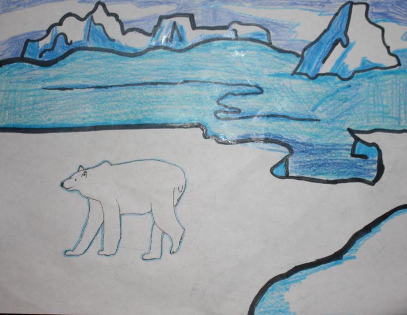 """Polar Bear in the Arctic"" by Anvita K. (age 7)"