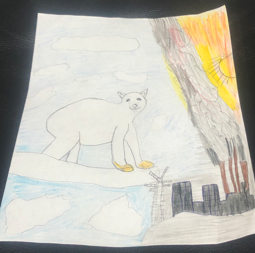 """""""Let's Protect the Animals"""" by Joselin M. (age 10)"""