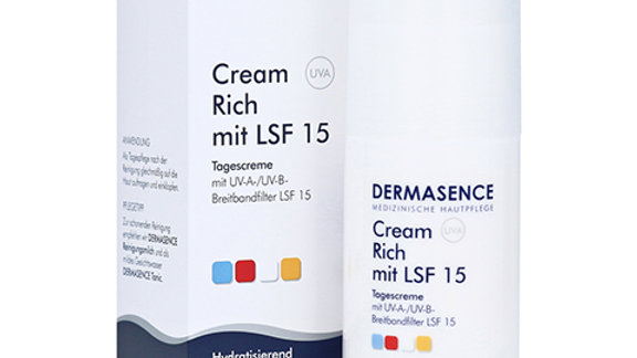 Dermasence Cream Rich mit LSF 15, 50 ml