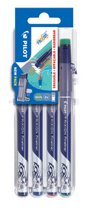 3131910537175 FriXion Fineliner 4 Piece Set2Go - Black, Blue, Red, Green