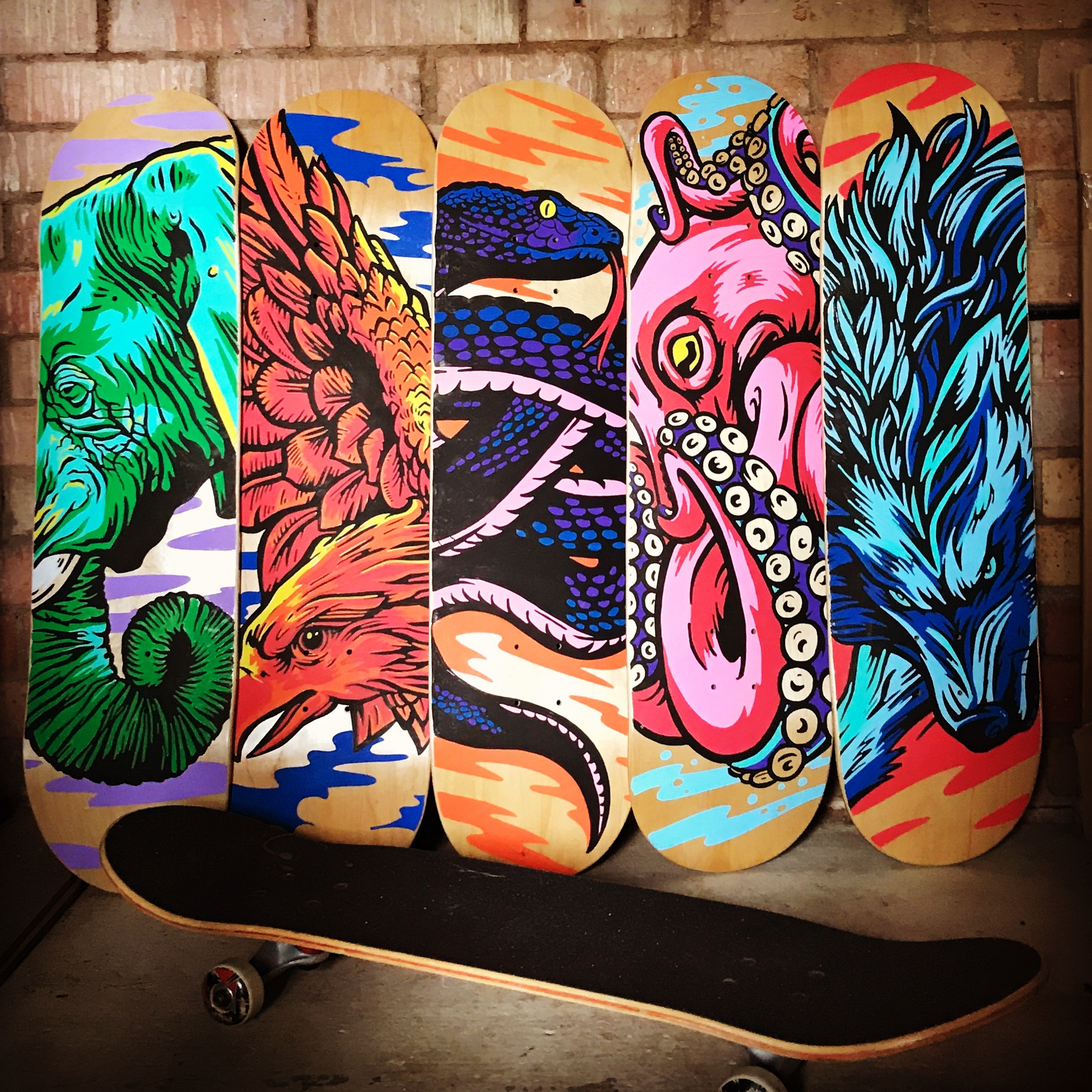 Skateboard art created with Pintor
