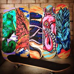 Skateboard art created with Pintor