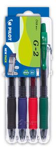 3131910551652 Pilot G2 4 Piece Set2Go - Black, Blue, Red, Green